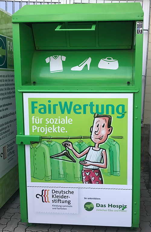 FairWertung: Used clothing collection with guaranteed social benefits: Fairwertung and its members are 100% non-profit.